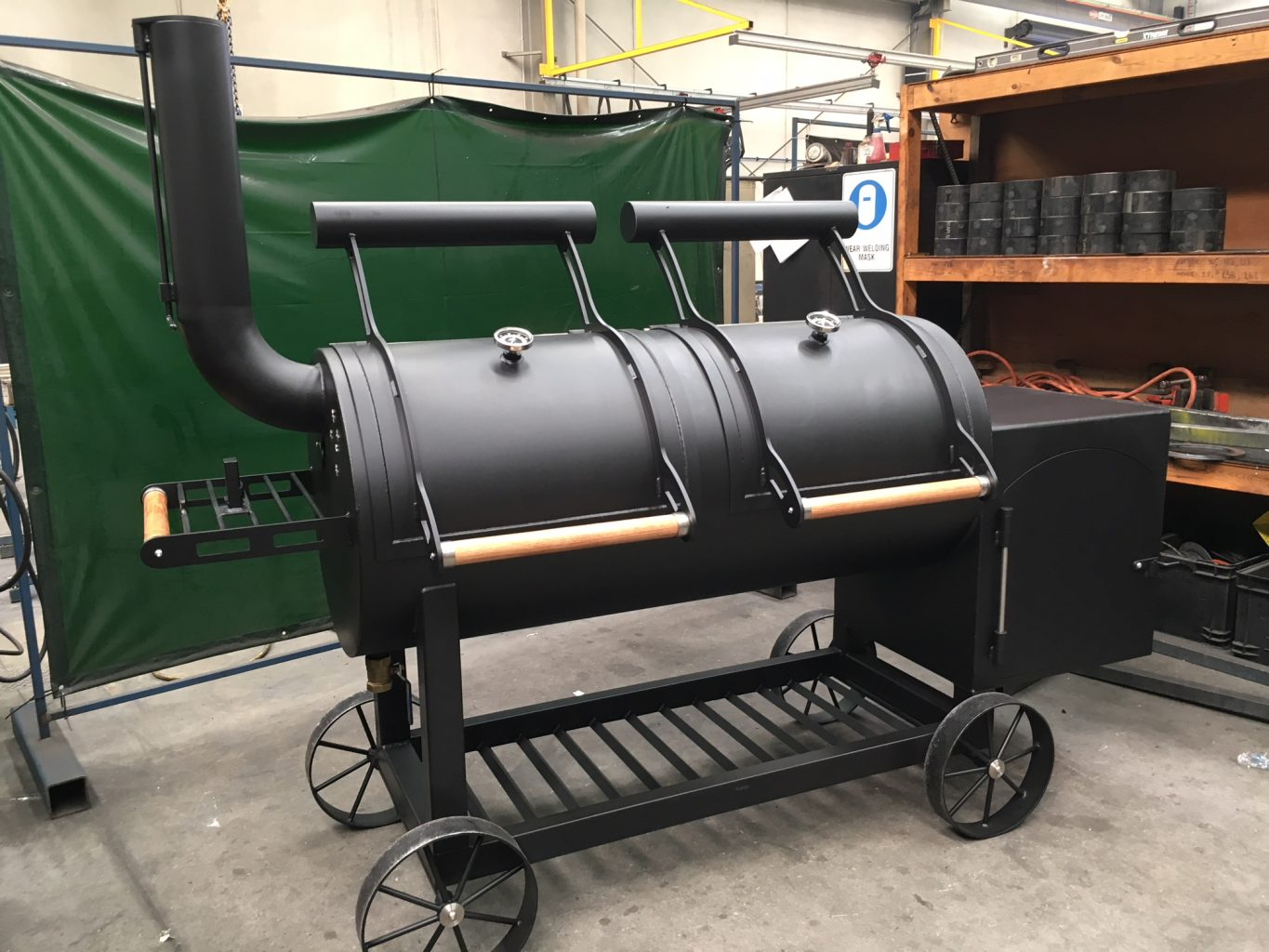 SC660 Offset Smoker Barbecue Australian Handcrafted Barbecues